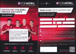 Bayern München, 2016, FCB Mobil, PrePaid-Karte, 'Gewinn Fan-Sofa'