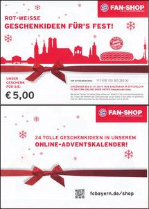 FanShop, 2013, Gutschein 'Weihnachten'