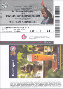 Kahn, 2008, Abschiedsspiel, Eintrittskarte
