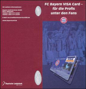 Bayerische Landesbank, 2001, Visa, Klappflyer 2, gab es nur in einer Ausgabe des Bayern Magazins