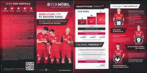 Bayern München, 2017, FCB Mobil, Klappflyer, neue Auflage 01'2017