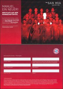 FanShop, 2019, Gewinnspiel 'Team-Shooting', '05'2019, A5, sign. Neuer 28.10.2019