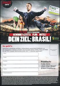 Neuer, 2014, CocaCola Zero, 'Brasil-Tickets'