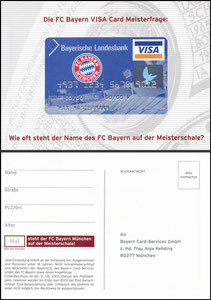 Bayerische Landesbank, 2003, Visa, Gewinnspiel, gab es nur in einer Ausgabe des Bayern Magazins