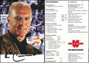 Beckenbauer, 2001, Würth