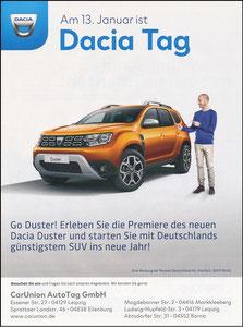 Scholl, 2018, Dacia 'Dacia Tag, CarUnion AutoTag', A4