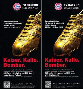 Bayern Erlebniswelt, 2015, 'Kaier, Kalle, Bomber', Flyer