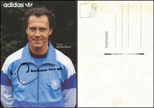 Beckenbauer, 1986, Adidas DFB-Karte