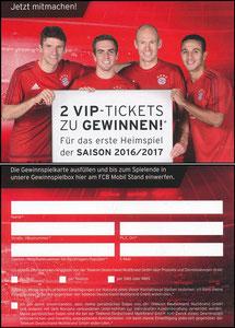 Bayern München, 2016, 05'2016, FCB Mobil, Gewinnspiel Heimspiel