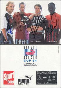 Matthäus, 1994, 'Puma Street Soccer Cup '94' mit Völler, Köpke und Yeboah