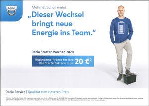 Scholl, 2019, Dacia 'Starter-Wochen', A4, Dank an SF Robert