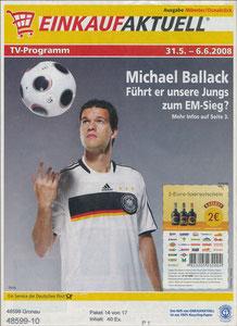 Ballack, 2006, 'Einkauf Aktuell', A4-Prospekt