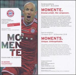 Bayern Erlebniswelt, 2018, 'Momente', Verlängerungs-Flyer, Robben