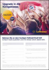 Lufthansa, 2018, Gewinnspiel 'Halbzeit-Duell' 01'2018