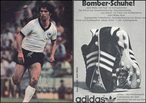 Müller, Gerd, 1974, Adidas 'Bomber-Schuhe'