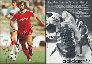Müller, Gerd, 1975, Adidas 'Der Ausrüster für Sport und Freizeit'