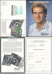 Rummenigge, 1981, Gothaer, 'Copress-Buch', mit Druck-AG