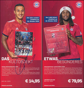 FanShop, 2018, 'Adventskalender', sign. Thiago am 28.10.2019