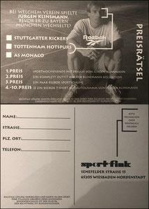 Klinsmann, 1996, Reebok Gewinnspiel, Dank an SF Heiko