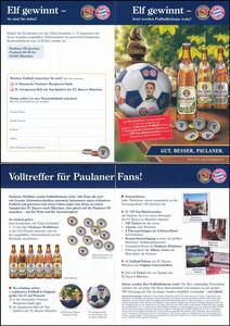 Paulaner, 2013, 'Kronkorken'-Gewinnspiel, A5 Klappkarte