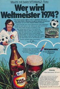 Beckenbauer, 1974, Vitamalz, Zeitungswerbung, Motiv 2