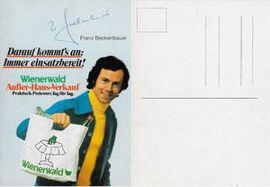 Beckenbauer, 1974, Wiener Wald, Dank an SF Norbert