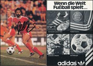 Müller, Gerd, 1974, Adidas 'Wenn die Welt Fußball spielt'