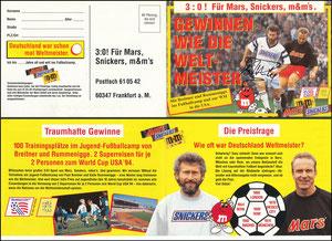 Gemeinschaftskarte, 1994, Breitner-Rummenigge, Mars, Klappkarte