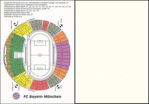 Postkarte, 2000er, Olympiastadion, Sitzplatz-Werbekarte
