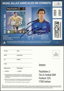 Ballack, 2005, Playstation 2, Aufkleber