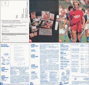 Rummenigge, 1982, Ligra, 3-fach-Klappkarte, mit Struzzi, ohne Bestell-Nr., MIT Druck-AG