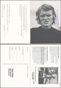 Maier, 1974, Rose Sauna, Klappkarte