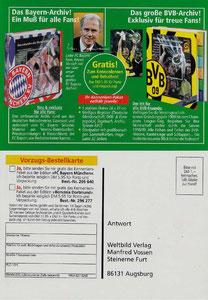 Beckenbauer, 1998, Weltbild, FC-Bayern-Archiv, Dank an SF Norbert