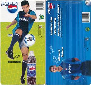 Ballack, 2002, Pepsi, Deck-Karte zum Mini-Truck