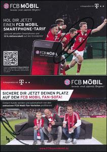 Bayern München, 2016, 12'2016, FCB Mobil 'Lehmann auf Sofa', 15% Rabatt, Version 1, sign. Müller im Jan. 2019 und rücks. Lehmann im März 2017