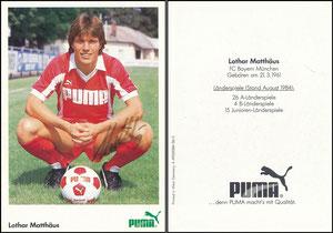Matthäus, 1984, Puma, rücks. Druck-Nr. A49020084-36-3