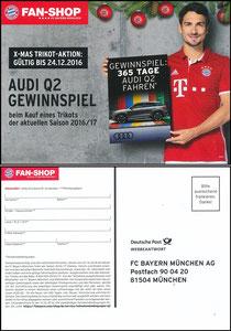 FanShop, 2016, Gewinnspiel 'Audi Q2'