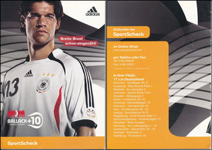 Ballack, 2006, Adidas +10, SportScheck, Folder A5