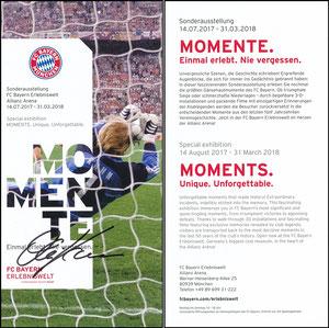 Bayern Erlebniswelt, 2017, 'Momente', Kahn, signiert Kahn im Febr. 2019