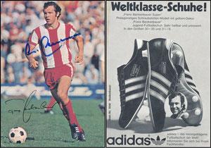 Beckenbauer, 1972, Adidas 'Weltklasse Schuhe'