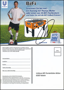 Müller, Thomas, 2012, Bifi 'Kicker-Gewinnspiel'