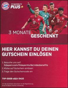 Bayern München, Bayern-TV, 2019 'Gratis-Aktion', Kleinkarte