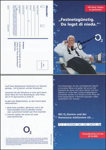Beckenbauer, 2002, O², Klappkarte