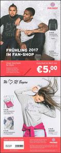 FanShop, 2017,  'Gutschein Frühling', Dank an SF Robert