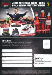 Neuer, 2014, CocaCola Zero, Globus 'Public Viewing'