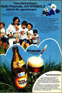 Beckenbauer, 1973, Vitamalz, Zeitungswerbung, Motiv 2