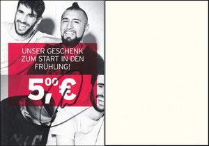 FanShop, 2017, Gutschein 'Frühling', sign. Martinez im Nov. 2019