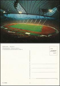 Postkarte, 1988, Olympiastadion München, Huber-Karte, Rückseite 2