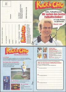 Rummenigge, 1982, Kick'n Chu, Klappkarte