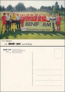 Mannschaftskarte 1986, 'Beniform'